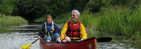 father & daughter on the canal - Care 4 Carers 2013