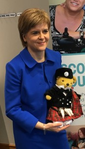 First Minister meets Teddy ISBA